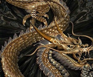 aesthetic, black, and dragon image