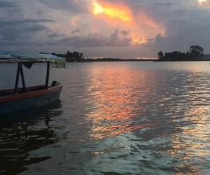 boat, calm, and guatemala image