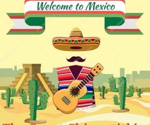 illustration, viva mexico, and méxico image