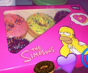 donuts, pink, and universal studios image