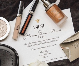 dior, makeup, and marble image