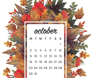 autumn, calendar, and background image