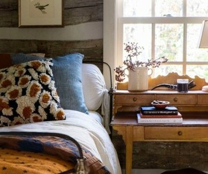 bedroom, cabin, and country living image