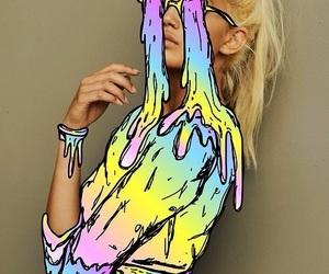 pop art and model image