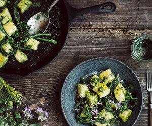 broccoli, dumpling, and healthy image