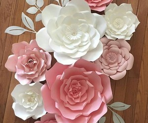 flowers, Paper, and paper flowers image