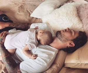 baby, family, and daddy image