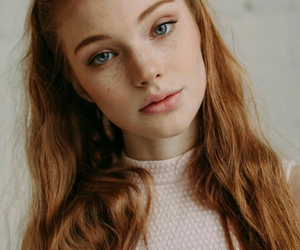 girl, beauty, and ginger image