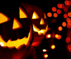 Halloween, pumpkin, and light image