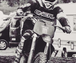 black and white, monster energy, and motocross image