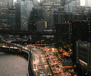 city, lights, and car image