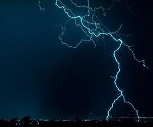 lightning, blue, and night image