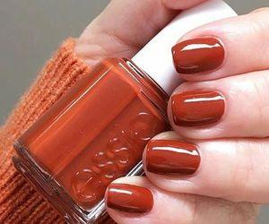 autumn, nails, and orange image