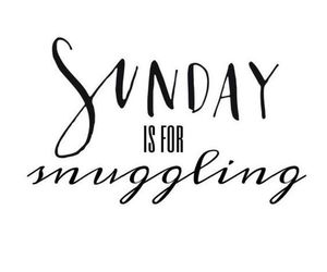 Sunday, quotes, and snuggling image