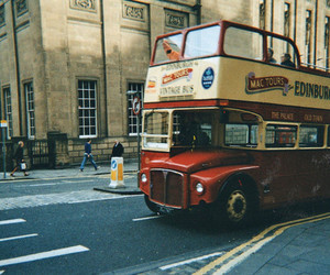 bus, vintage, and london image
