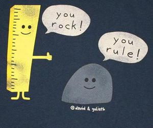 rock, funny, and rule image