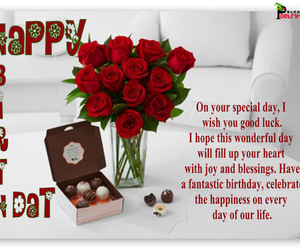 happy b day and birthday thoughts image