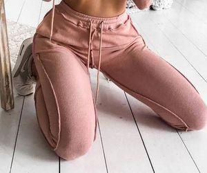 fashion, sweater, and sweatpants image