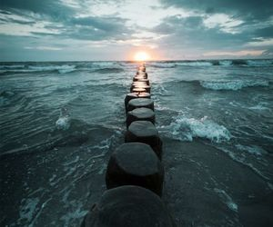 sea, stone, and photography image