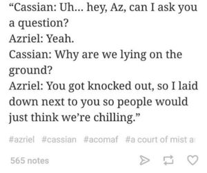 cassian, a court of mist and fury, and azriel image