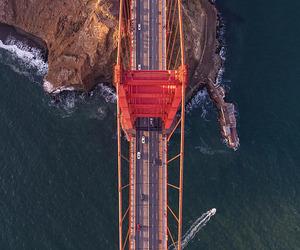 bridge, ocean, and california image