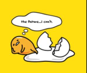 egg, kawaii, and gudetama image