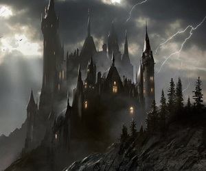castle, dark, and vampire image