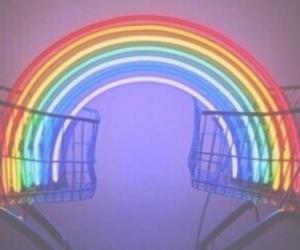 rainbow, grunge, and header image