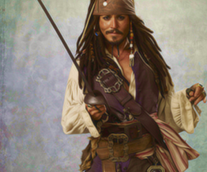 pirates of the caribbean, johnny depp, and jack sparrow! image