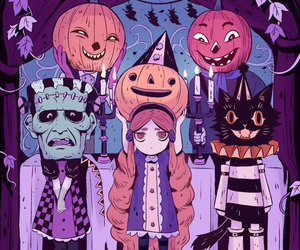 autumn, goth, and Halloween image