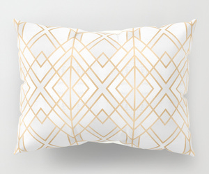 bed, pillow, and pillow sham image
