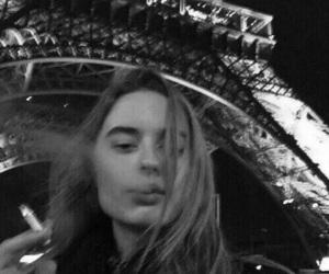 paris, girl, and smoke image