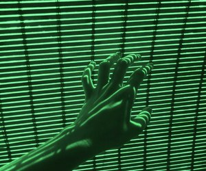 green, hand, and neon image
