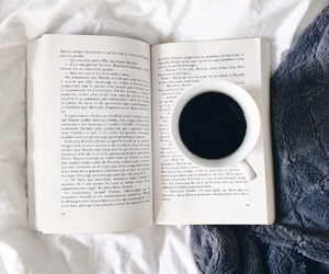 cozy, books, and coffee image