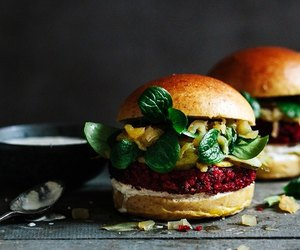apple, burger, and healthy image