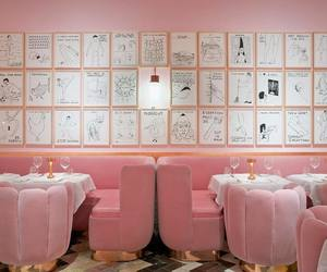 pink, restaurant, and aesthetic image