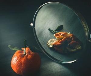 mirror and orange image
