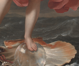 art, painting, and shell image
