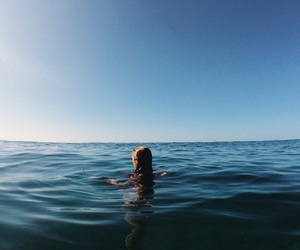girl, sea, and blue image