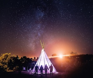 friends, stars, and travel image