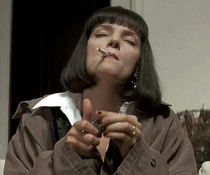 pulp fiction, uma thurman, and cigarette image