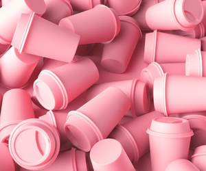 pink, cups, and wallpaper image