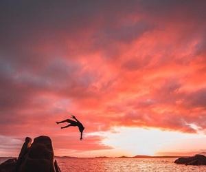 backflip, ocean, and sea image