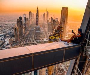 Dubai, building, and travel image
