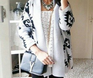 cardigan and fashion image