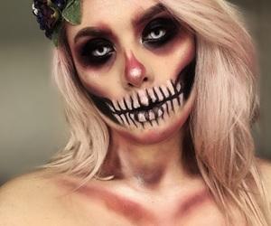 caveira, Halloween, and makeup image