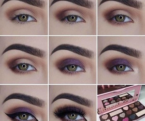 makeup, tutorial, and eyeshadow image