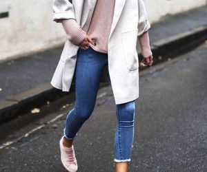 backpack, cardigan, and outfit image