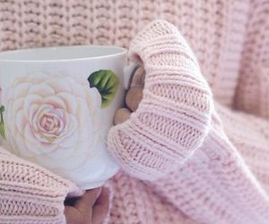 pink, aesthetic, and coffee image