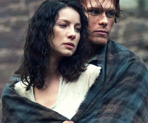 outlander, claire fraser, and sam heughan image